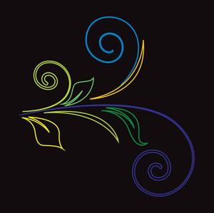 Colored Flourish Vector Elements