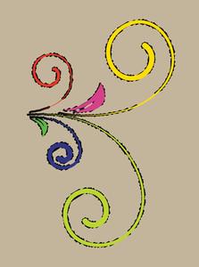 Colored Flourish Vector