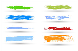 Colored Grunge Strokes