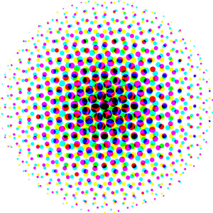 Colored Halftone Circle