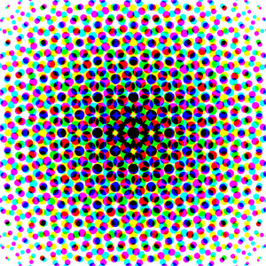 Colored Halftone Pattern