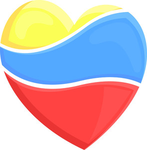 Colored Heart