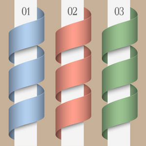 Colored Numbered Ribbons-banners