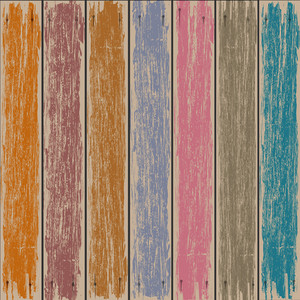 Colored Old Wooden Fence