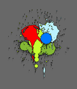 Colored Paint Drops Stains Background