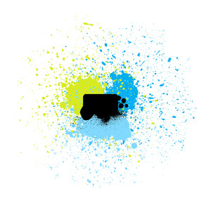 Colored Paint Drops Vector