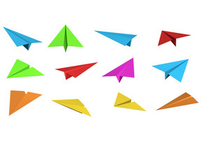 Colored Paper Planes