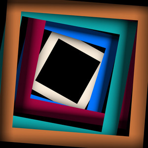 Colored Paper Square And Frame Background