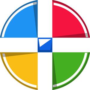 Colored Radiation Symbol
