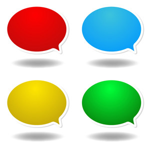 Colored Speech Bubbles Stickers