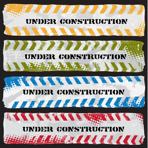 Colored Under Construction Banners
