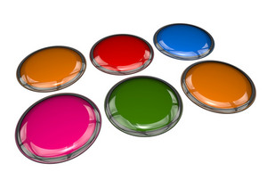 Colorful 3d Buttons