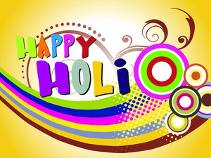 Colorful Abstract Background For Happy Holi