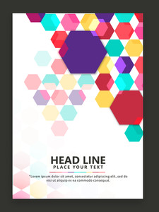 Colorful abstract design decorated flyer banner or template for your business.