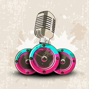 Colorful Abstract Speakers Background.