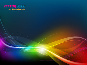 Colorful Abstract Vector Wave