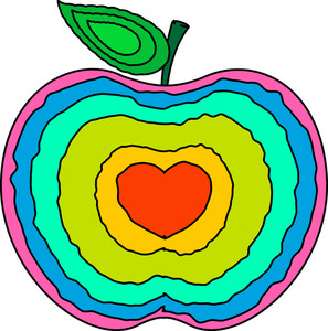 Colorful Apple Heart