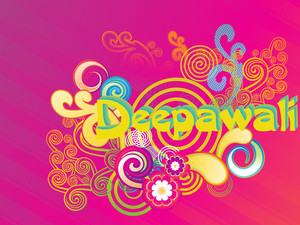 Colorful Artwork Background For Deepawali