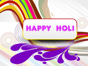 Colorful Artwork Background For Happy Holi