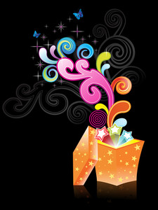 Colorful Artwork With Black Background