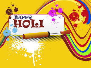 Colorful Background For Happy Holi Celebration