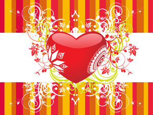 Colorful Background With Heart Illustration