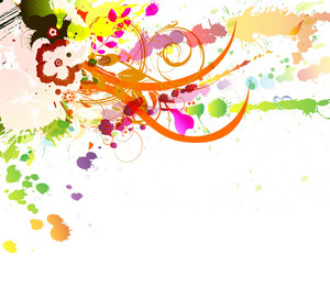 Colorful Background With Splatter Vector Illustration