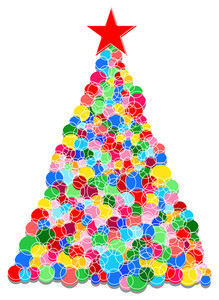 Colorful Balls Christmas Tree