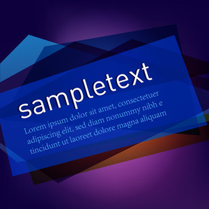 Colorful Banner For Text.vector