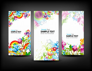 Colorful Banners Set Vector Illustration