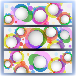 Colorful Banners With Circles