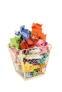 Colorful Basket of Trash