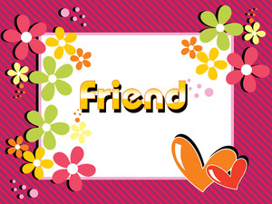 Colorful Bloom Pattern Card For Friendship Day