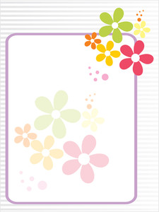 Colorful Blossom Card For Mother