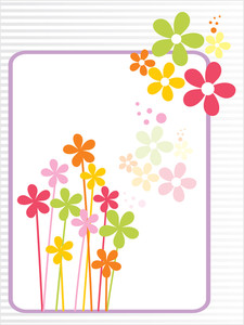 Colorful Blossom With Background