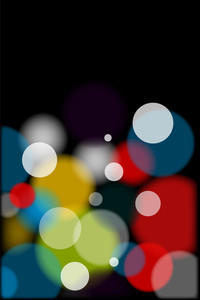 Colorful Blurred Bokeh Bubbles - Vector Background