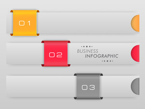 Colorful business infographic layout with numeric on grey background.