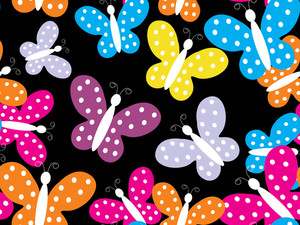 Colorful Butterfly Pattern Wallpaper