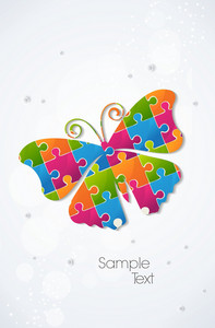 Colorful Butterfly Vector Illustration