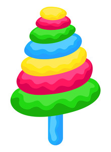 Colorful Candy Style Christmas Tree