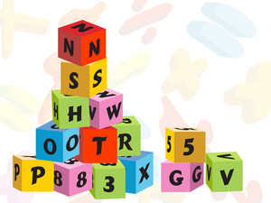 Colorful Children's Blocks Education