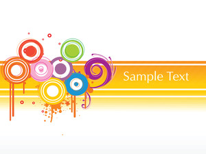 Colorful Circle Pattern Background