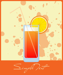 Colorful Cocktails On A Grunge-background. Vector Illustrations. Eps 10