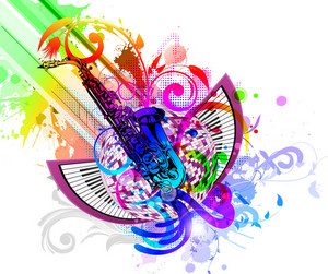Colorful Concert Poster Vector Illustration