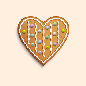 Colorful Cookie Heart