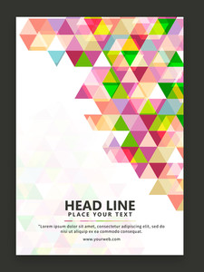 Colorful creative abstract design decorated one page Business Flyer