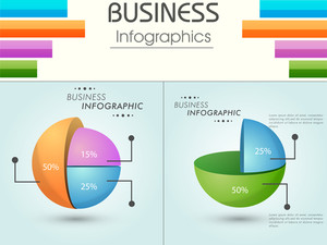 Colorful creative business infographic layout.