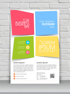Colorful creative one page flyer banner or template design for your business.