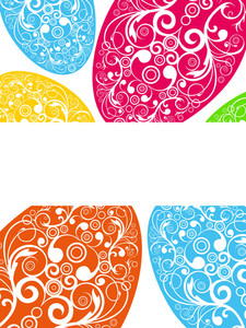 Colorful Decorated Egg Pattern Wallpaper