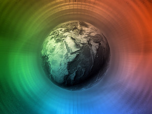 Colorful Digital Background With A Globe